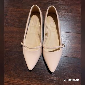 Forever 21 pink pointy flats